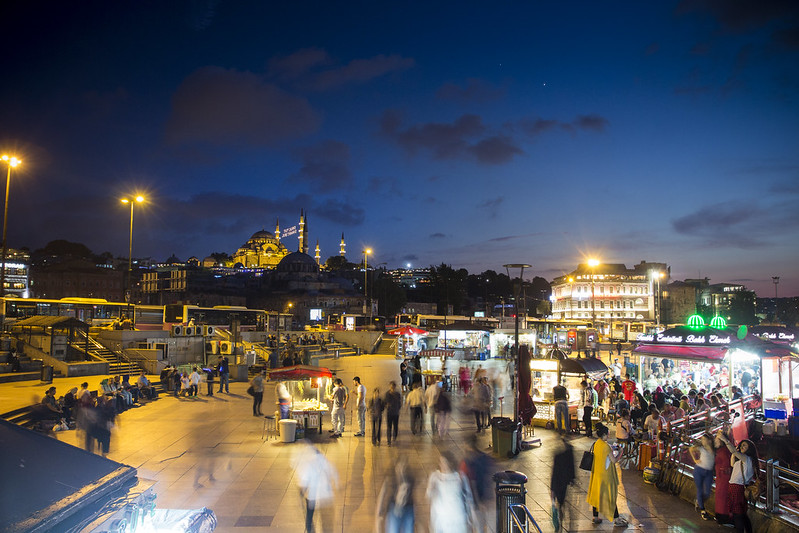 Eminonu at Night - Istanbul, Turkey