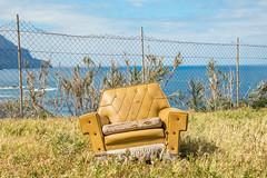 Un sofá con vistas
