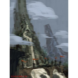 #speedpainting #imaginary #landscape #sketchbookpro #ipad
