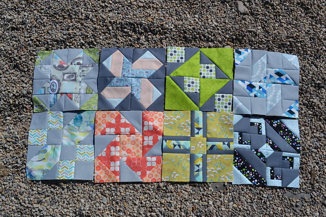 Virtual Quilting Bee Blocks 1-8