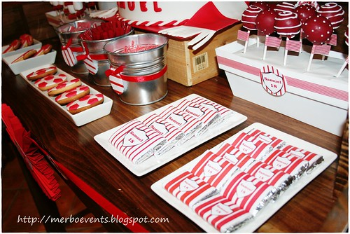 Sweet table red&white 5Merbo Events