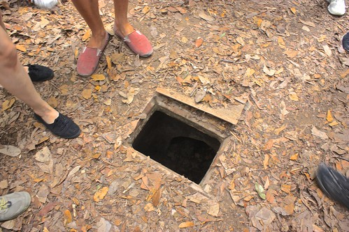 an airhole for the Cu Chi tunnels. Often used to peak out and navigate