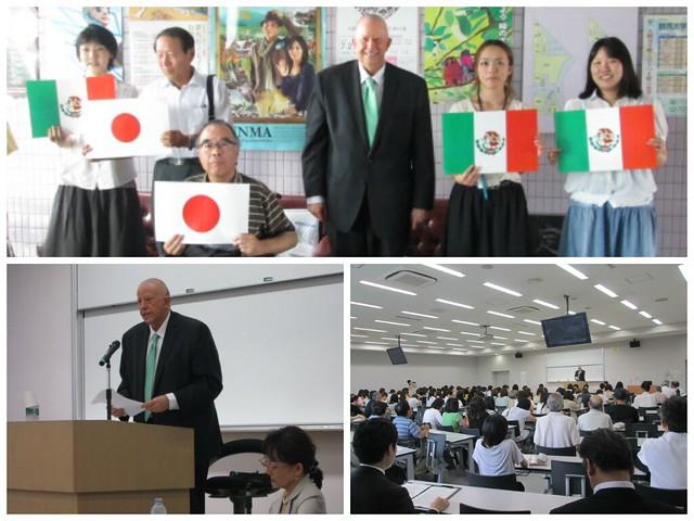 El Embajador Claude Heller ofrece conferencia en Gunma sobre las contribuciones de México a la paz y seguridad internacionales.