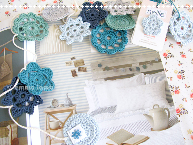 good reads : Good Homes, August 2013 featuring my Nellie ocean blue Forever Flower Garland | Emma Lamb