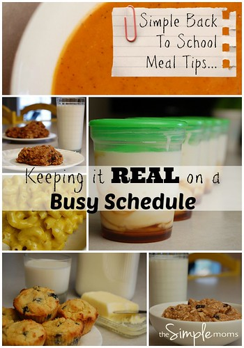 simple back to school meal tips :: keeping it real on a busy schedule