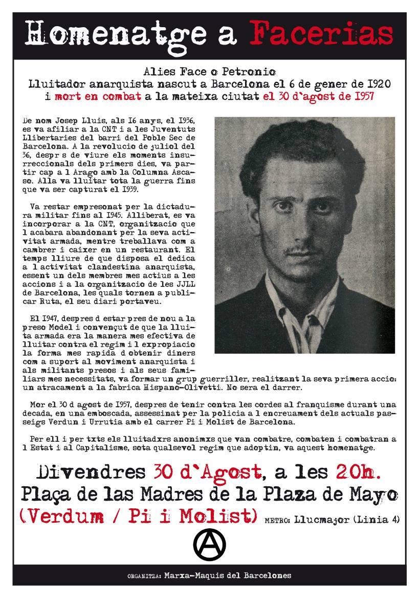 Homenatge Facerias 30 agost 2013