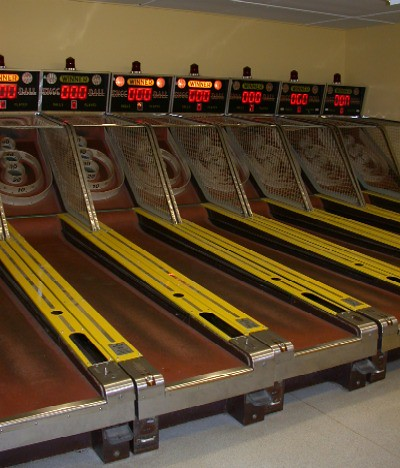 Old Skeeball games at Holiday World