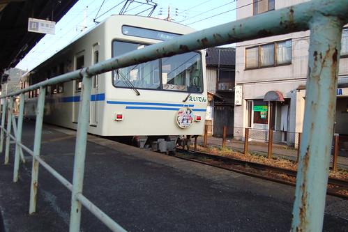 2013/09 叡山電車 きんいろモザイク ヘッドマーク車両 #03