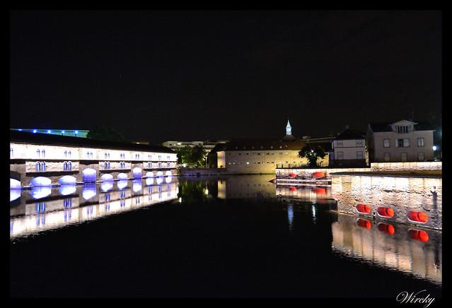 Alsacia Colmar Riquewihr Haut-Koenigsbourg Santa Odilia Estrasburgo - Estrasburgo de noche