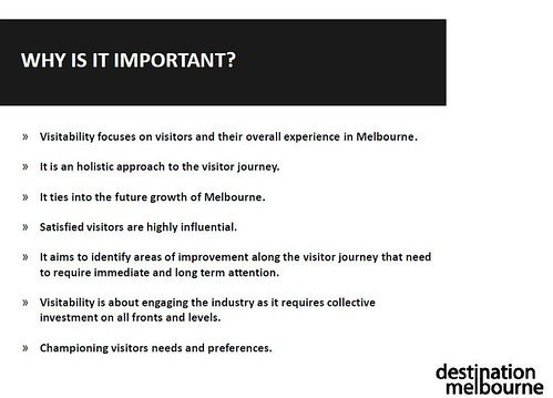 Visitability, from a Destination Melbourne presentation