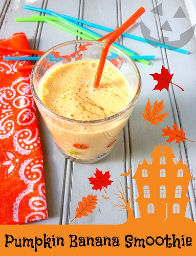Pumpkin Banana Smoothie via MealMakeoverMoms.com/kitchen