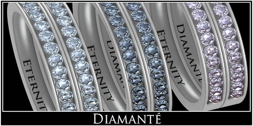 :Diamante:  Eternity Diamonds Wedding Bands by Alliana Petunia