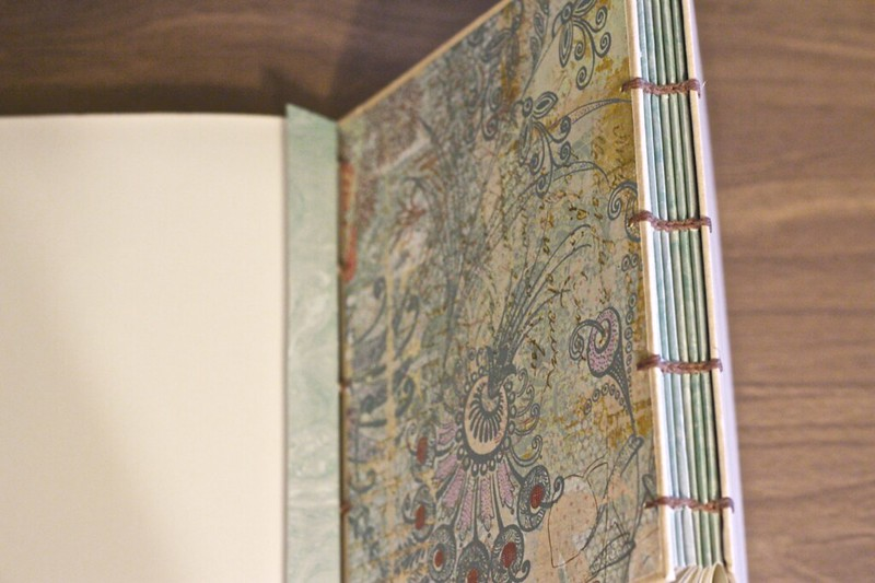 handmade coptic stitch book