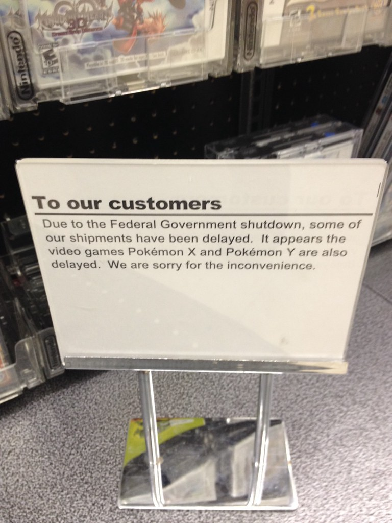 Pokémon CLOSED due to government shutdown