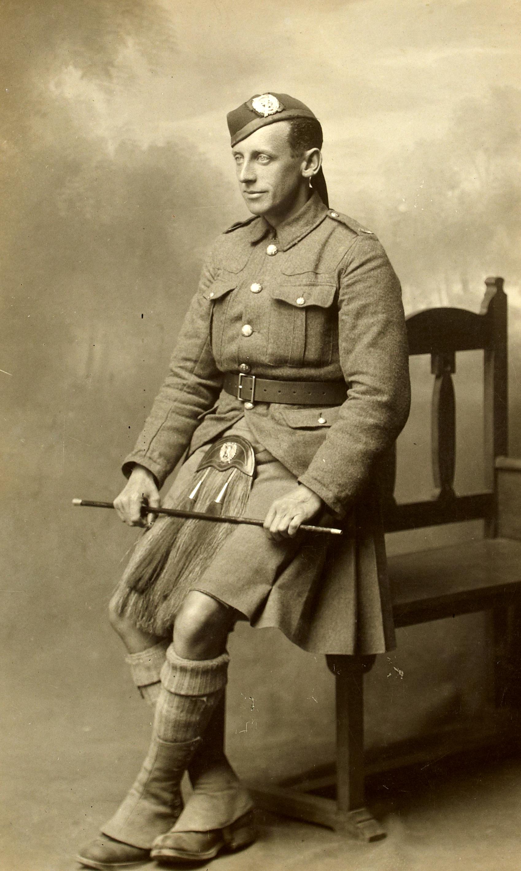 Unidentified British soldier…