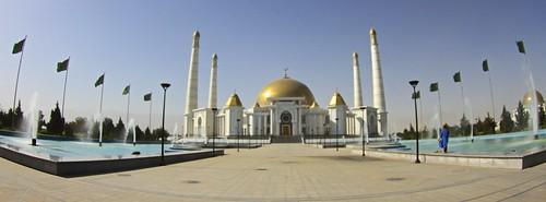 travel canon asia mosque panoramic centralasia turkmenistan turkmenbashi ashgabat canon7d spiritualmosque