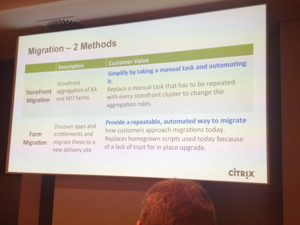 Citrix Project Merlin Migration methods