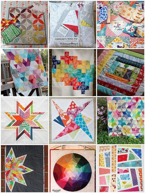 Doll Quilt Swap inspiration mosaic