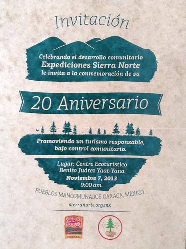 20th Anniversary Poster @ Oaxaca 10.2013