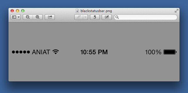 Black iOS statusbar template