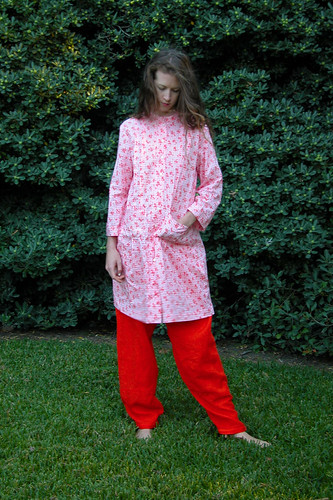 Orange Linen pant and Cotton Top