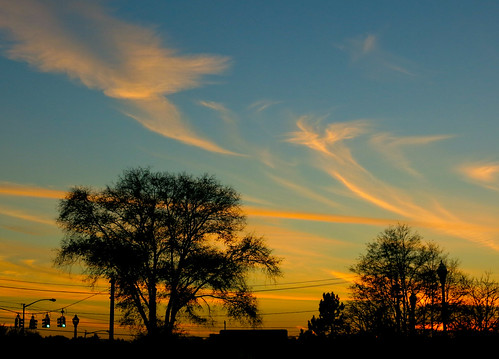 sunset sky night clouds silhouettes canong15 pwpartlycloudy