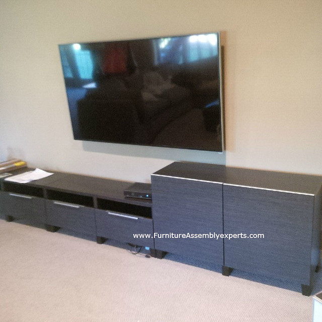 Ikea besta tv stand unit assembly service in dc md va for I furniture assembly