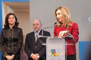 La consejera de Cultura de Castilla y León, en la presentación del evento.