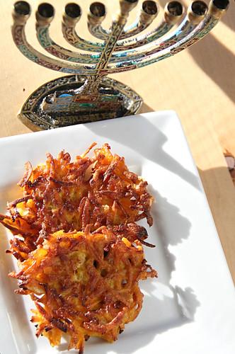 butternut squash latkes for Hanukkah, gluten-free