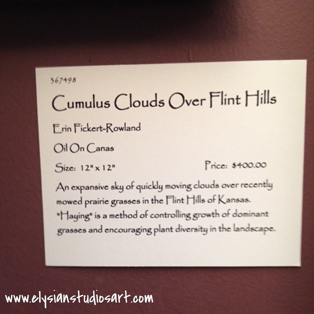 Cumulus Clouds Over Flint Hills Title Tag
