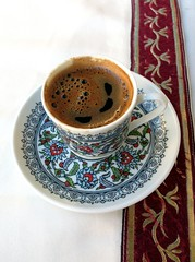 cup(1.0), tea(1.0), saucer(1.0), coffee(1.0), coffee cup(1.0), turkish coffee(1.0), drink(1.0), caffeine(1.0),