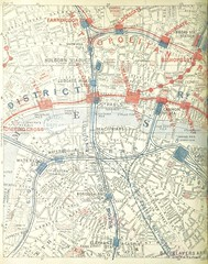 """British Library digitised image from page 28 of """"The District Railway Guide to London, with coloured maps, plans, etc"""""""