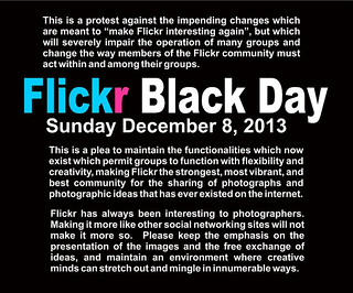 Flickr Black Day Protest