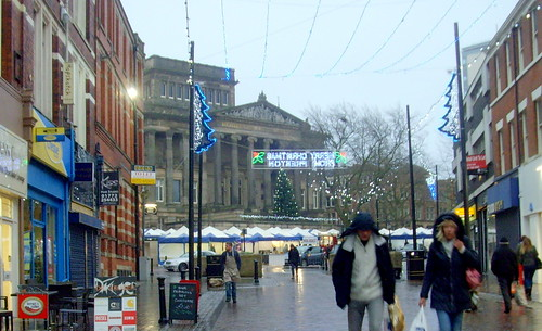Grey Christmas street in Preston