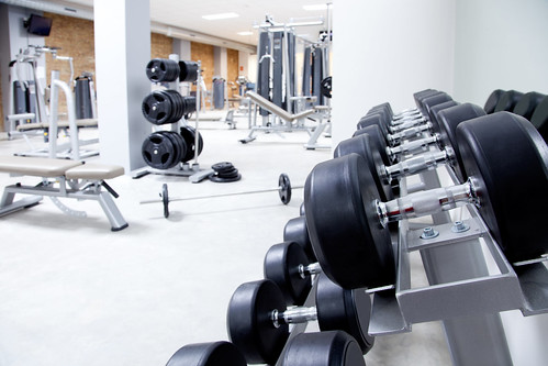 Fitness club weight training equipment gym