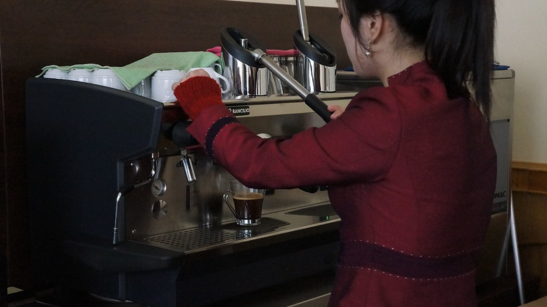 Helmut Sachers Coffee Shop in Pyongyang North Korea