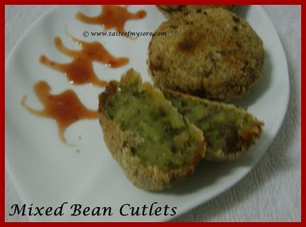 Mixed Bean Cutlets