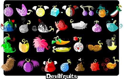 Devil's Fruits đóng vai trò trung tâm trong One Piece: bất cứ ai ăn nó thì  sẽ nhận được năng lực siêu nhiên, nhưng sẽ biển cả nguyền rủa và mãi mãi .