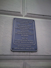 Photo of Thomas Burberry blue plaque