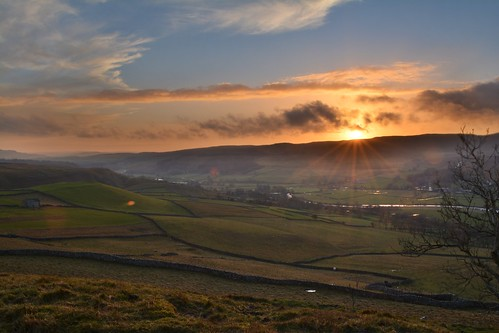 Sunset over Wharfedale