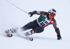Phil Brown in action during the giant slalom in Alta Badia, ITA