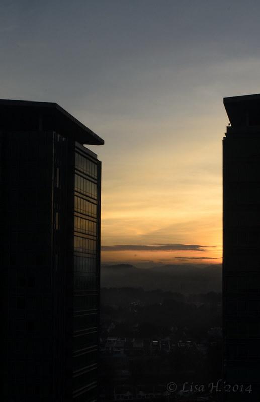 Kuala Lumpur at sun rise