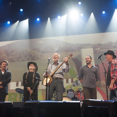 We are so blessed to have had Pete Seeger's presence on the Farm Aid 2013 stage. Rest in peace, Pete Seeger. Thank you for your tireless fight for peace, justice and the planet, and for your music.