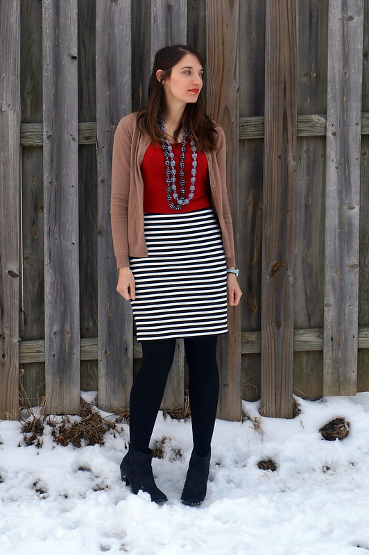 stripes with red