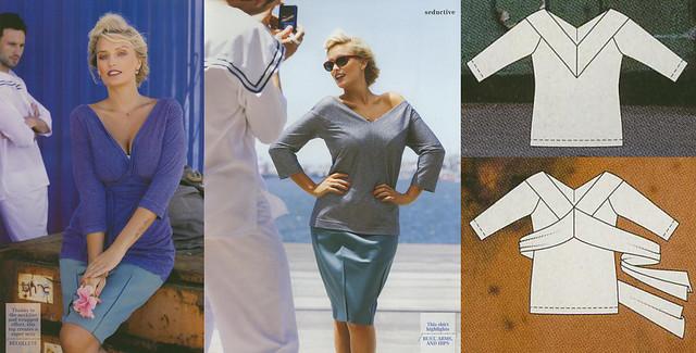 Burda-Plus-2014-SS Off the shoulder top Collage