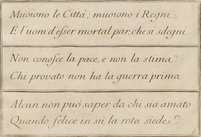 La penna da scrivere - Francesco Polanzani, 1768 e