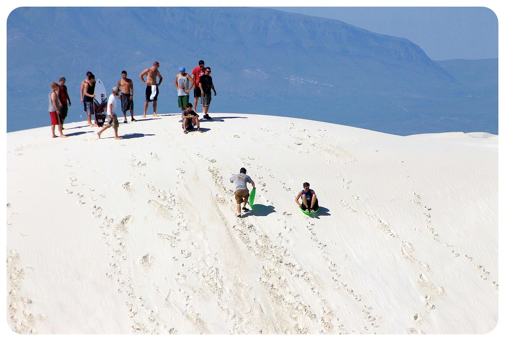 White Sands New Mexico sledding