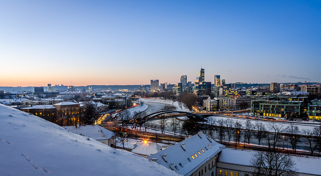 Winter cityscape of Vilnius