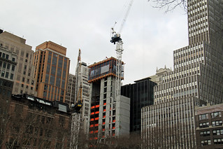 Picture Taken From Bryant Park Of Seven Bryant Park Building Under Construction On Sixth Avenue Between 39th/40th Street In New York City. Photo Taken Friday March 14, 2014