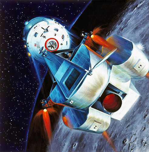 Apollo / Lunar Module (LEM) prototype art picture, David Meltzer (1960's)